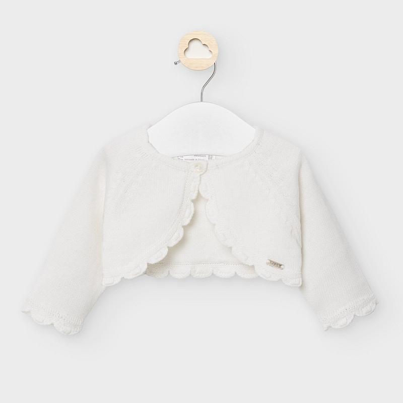Rebeca corta tricot básica- Mayoral